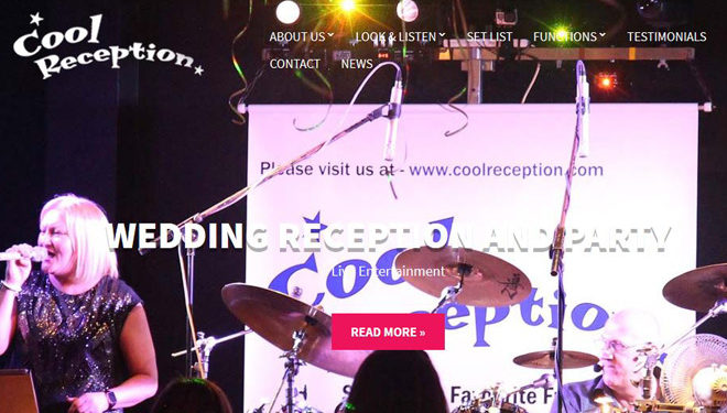 Cool Reception new website