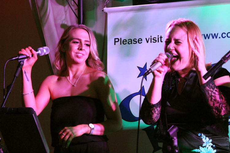 The Cool Reception girls performing at Hogmanay