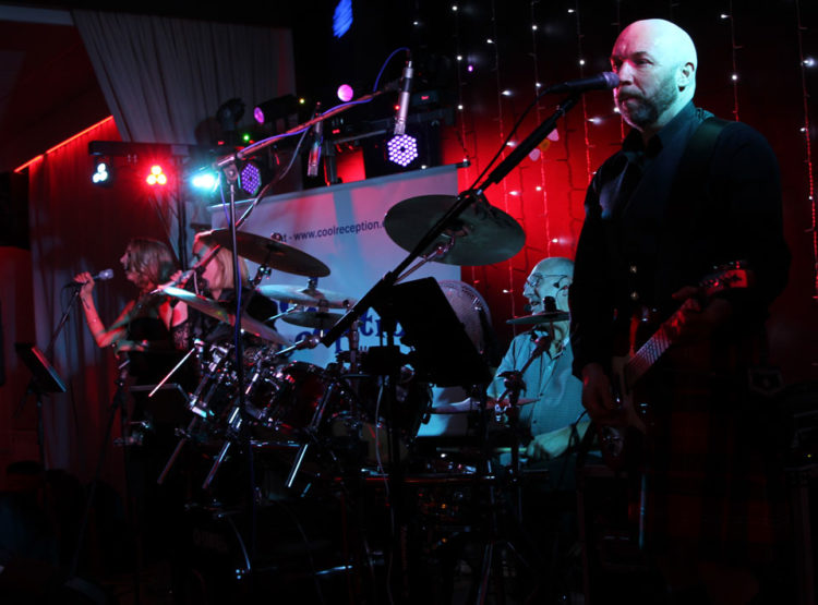 Cool Reception performing live on Hogmanay